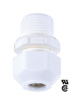 3/8M White Large Cord Grip Bushing