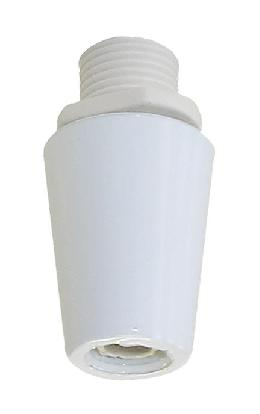 White Color, Metal Cord Grip Bushing, 1/8 IP