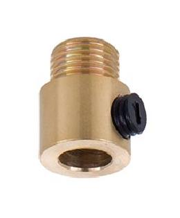 Polished Brass Cord Grip Bushing w/Set Screw