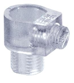 Clear Plastic Cord Bushing w/Set Screw