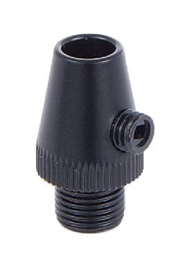 Black Finish Metal Cord Grip Bushing w/Set Screw
