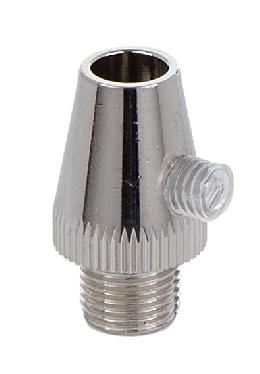 Polished Nickel Finish Metal Cord Grip Bushing w/Set Screw