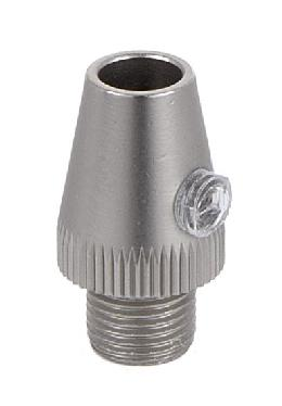 Satin Nickel Finish Metal Cord Grip Bushing w/Set Screw
