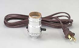Complete Nickel Push-Thru Socket w/8 ft. cord