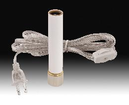 Candlestick Adaptor w/White Candle Cover