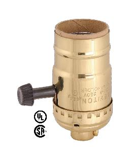 Leviton Brand, Reg. On-Off Turn-Knob Socket