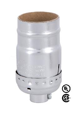 Keyless Leviton Nickel Plated Medium Socket