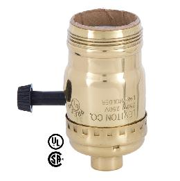3-Way Turn Knob Leviton Brand Brass Socket with UNO Thread