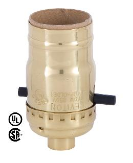Push-Thru Leviton Brand Polished Brass Socket