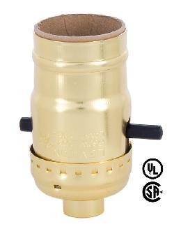 Push-Thru Leviton Brand Brite Gilt Brass Socket