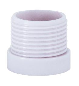 White Plastic Threaded Socket Shell
