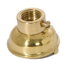 Heavy Turned Brass Socket Cap, Polished and Lacquered Finish, Convert 1/8IP to 1/4IP