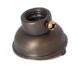 Heavy Turned Brass Lamp Socket Cap, Antique Bronze Finish, Convert 1/8IP socket to 1/4IP