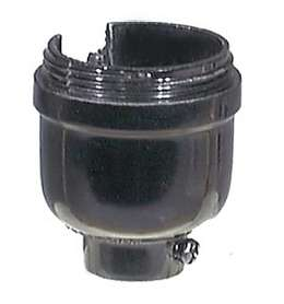 Leviton Brand Bakelite One-Slot Socket Cap with 1/8F Thread