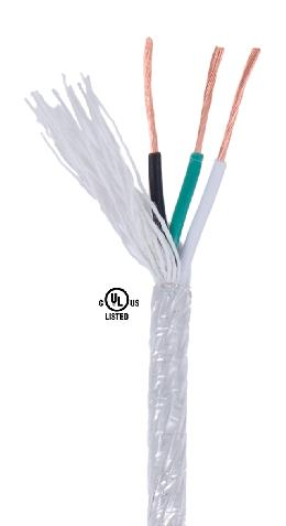 Clear PVC 3-wire Medium Duty Spooled Lamp Cord 46618 | B&P Lamp Supply