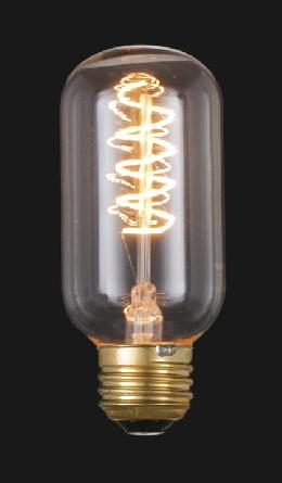 "Edison Base, Vintage Style Light Bulb with ""Spiral"" Filament"