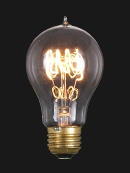 "Edison Base, Vintage Style Light Bulb with ""Quad Loop"" Filament"