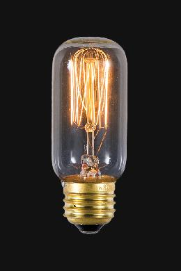 Short Antique Style 25W Light Bulb Medium Base