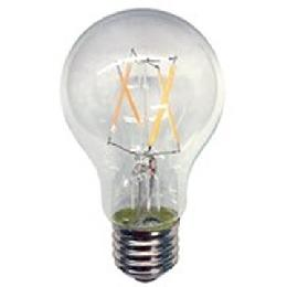A19 Antique Style LED Light Bulb with Clear Glass, Squirrel Cage Filament