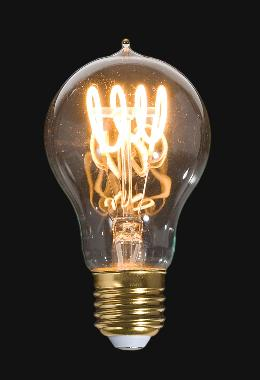 LED Vintage Style Light Bulb, A19, Medium Size (E26) w/Loop Filament
