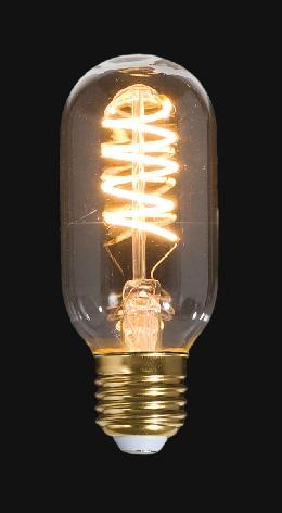 LED Vintage Style Light Bulb, ST14, Medium Size (E26) w/Spiral Filament