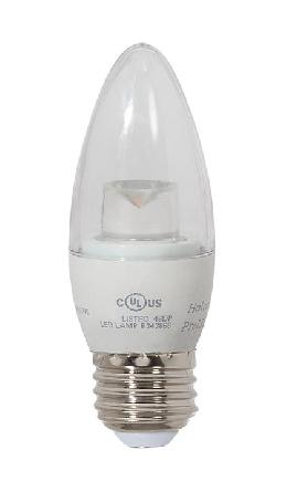 Clear 40W Equivalent E-26 LED Dimmable B11 Bulb