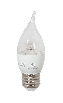 Clear 60W Equivalent E26 LED Dimmable CA14 Bulb