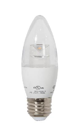 Clear 60W Equivalent E26 LED Dimmable B13 Bulb