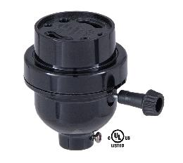 Plastic GU-24 Turn Knob Socket with 1/8IP Base