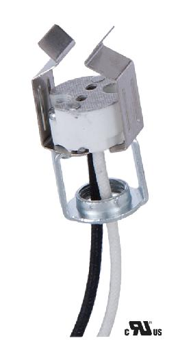 Porcelain Bi-Pin Halogen Socket With MR-16 Clip