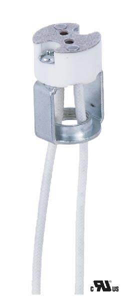 Porcelain Bi-Pin Halogen Socket Fits G4, G5.3, Gx5.3, & G6.35