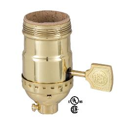 Solid Stamped Brass Socket with Decorative Key