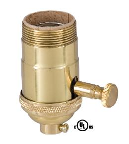 Edison Size Full Dimmer Socket in Brass With UNO Thread