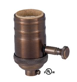 Edison Size Full Dimmer Socket in Bronze Finish