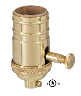 Edison Size Full Dimmer Socket In Brass