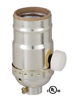 Brite Gilt Finish Full Range Dimmer Socket