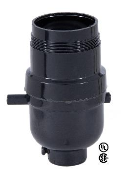 Black Phenolic Push-Thru Socket With UNO Thread