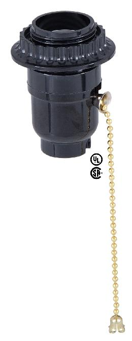 Medium Base (E26)  Pull Chain Lamp Socket w/Retaining Ring