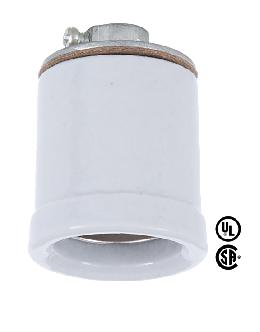 Edison Size Porcelain Socket With Flange
