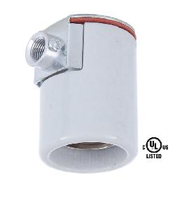 Edison Size Porcelain Socket With Side Outlet