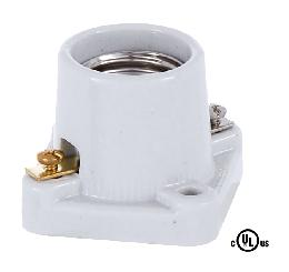 Square Base Porcelain Pony Cleat Edison Socket