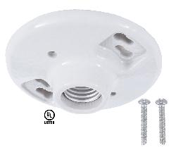 Porcelain Ceiling Blank Socket