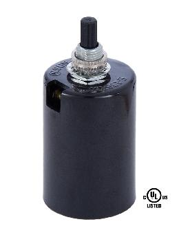 Black Plastic Husk Socket with On-Off Turn Knob
