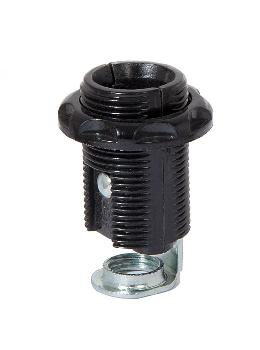 "E-12, 1-5/8"" Tall Phenolic Fully Threaded Socket with External Threads with Phenolic Ring"