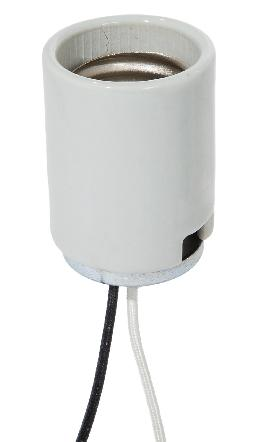 Heavy Duty Keyless Mogul E-39 Glazed Porcelain Socket, 4KV Pulse Rated