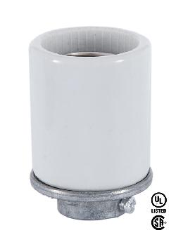 Porcelain Keyless Medium Base Socket With 3/8IP Cap