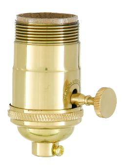 Heavy Turned Brass, Brass Knob Premium Lamp Sockets