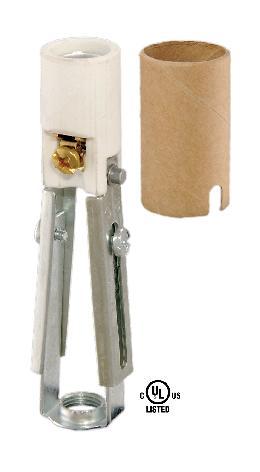 Adjustable Keyless Porcelain Candelabra Candle Socket