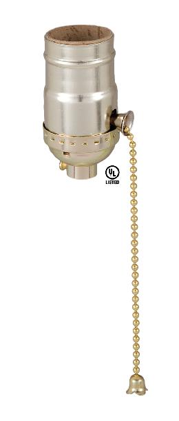 Pull Chain Socket Brass Plated
