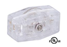 Clear Silver Inline Rotary Switch
